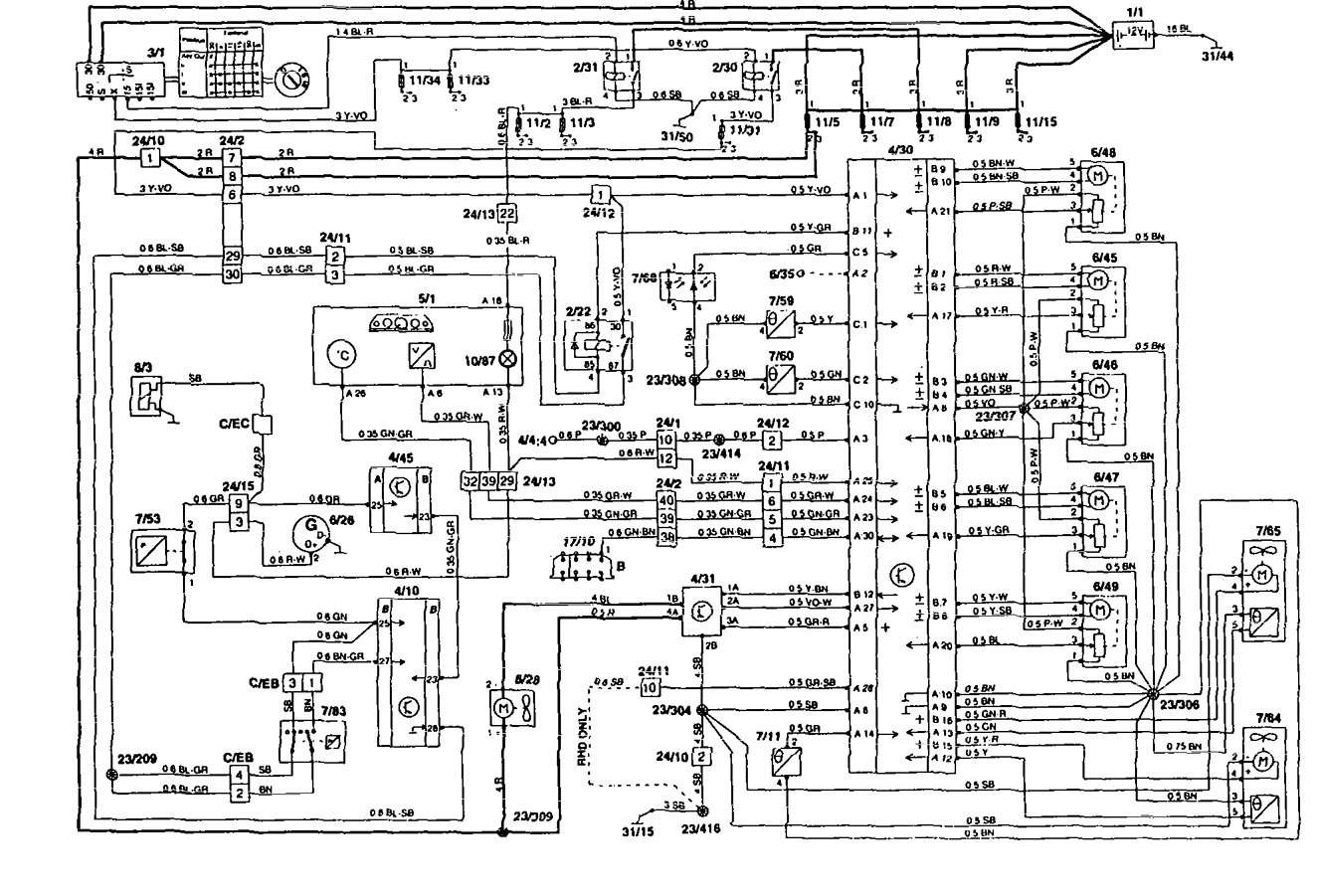 1997 Volvo 850 Radio Wiring Diagram