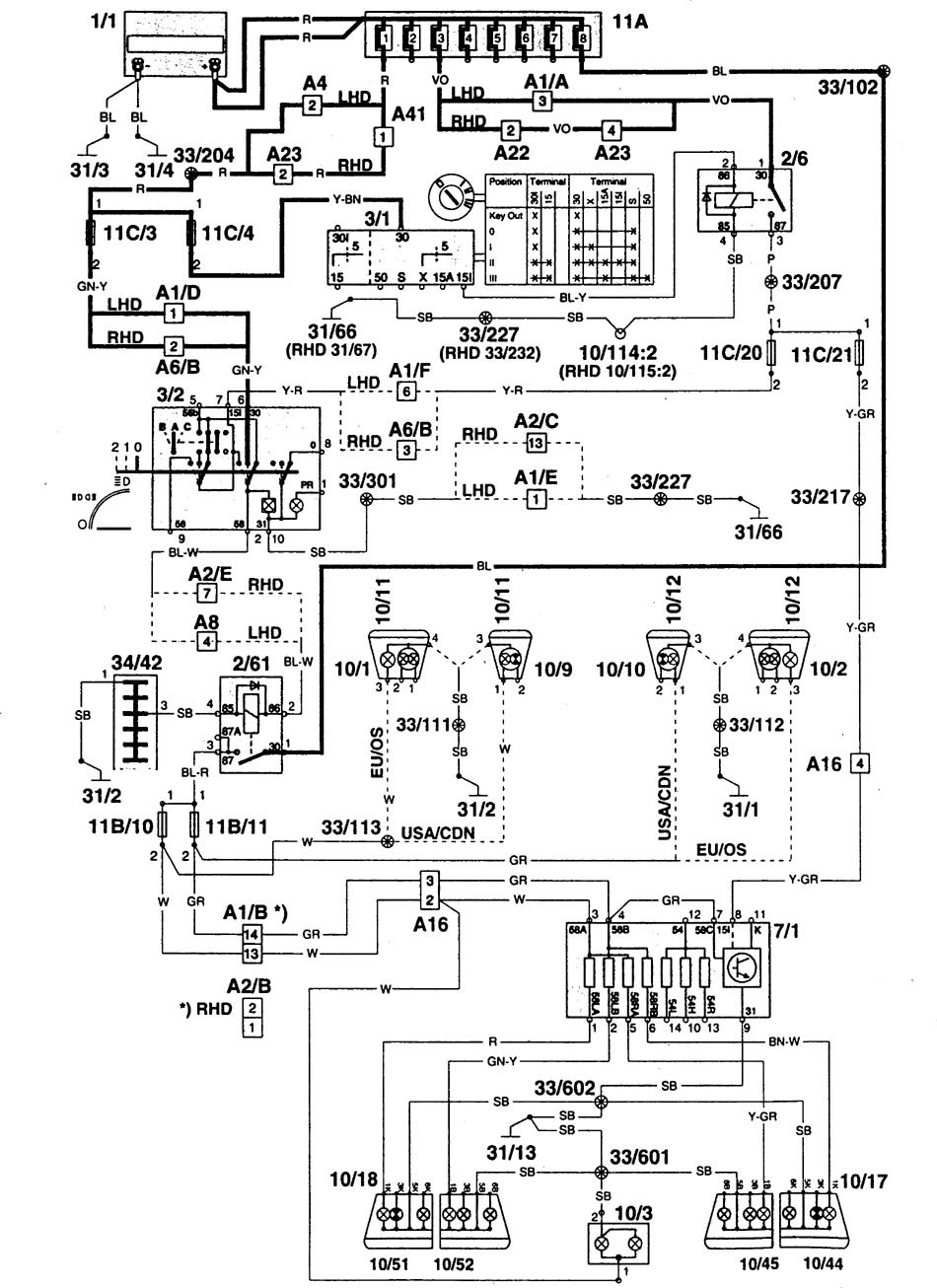 1995 volvo 960 wiring diagram wiring diagrams schematics