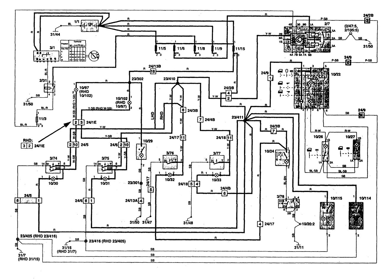 Volvo 850 1997 wiring diagrams courtesy l s carknowledge