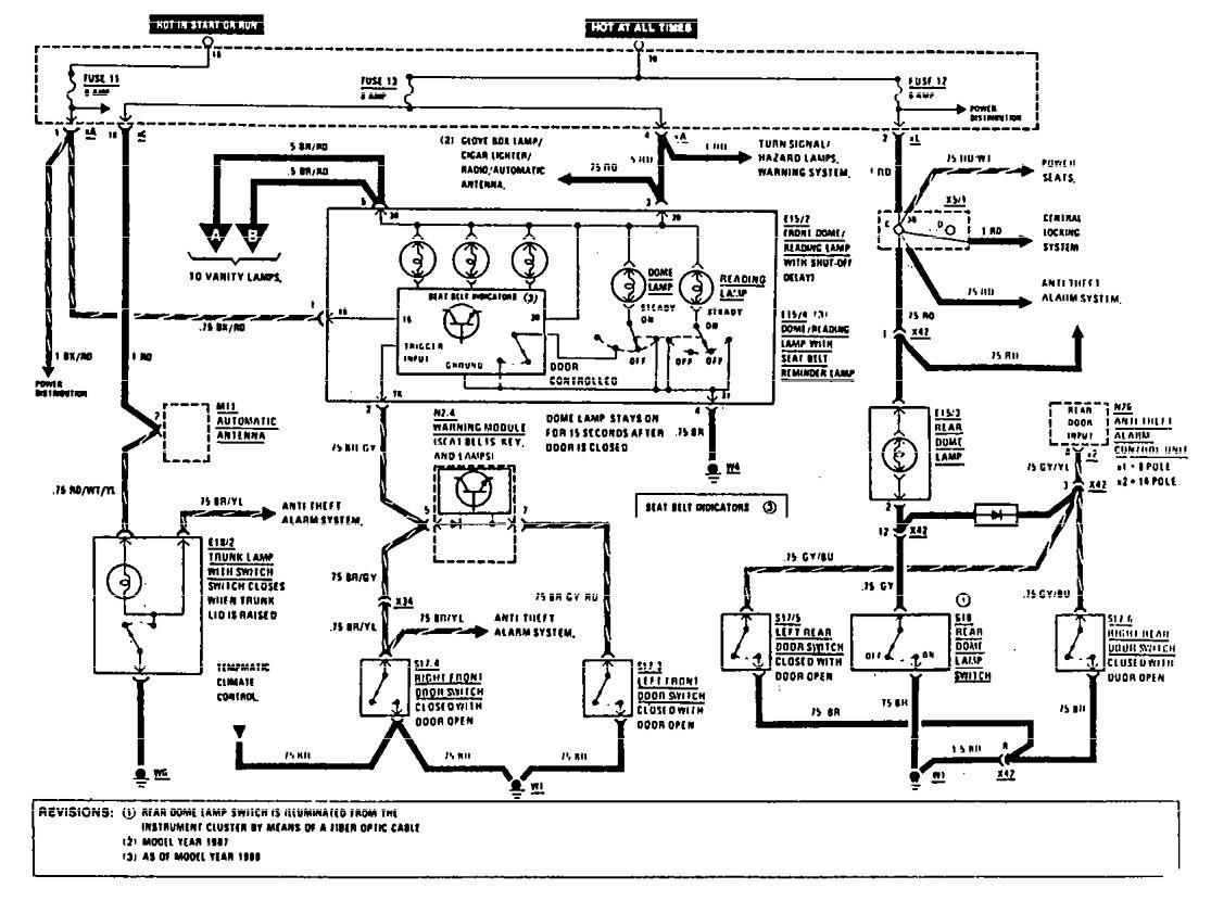 Mercedes benz 190e 1990 1991 wiring diagrams courtesy l s mercedes benz 190e wiring diagram