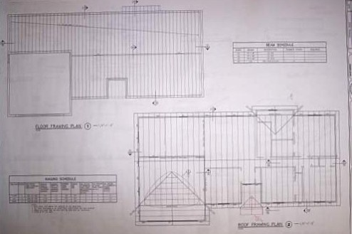 House Blueprints   Examples Blueprint example framing details