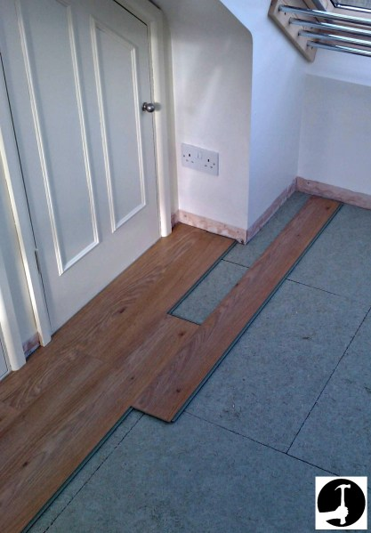 How to install laminate flooring setting out laminate floor boards