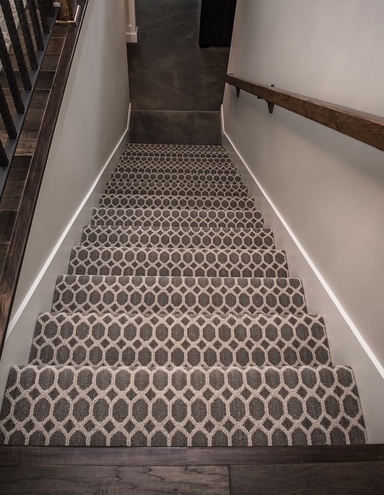 Patterned Carpet Add Some Fun To Your Floors Carpet Direct | Grey Patterned Carpet Stairs | Unusual | Living Room | Grey Mottled | Carpet Wrapped | Geometric
