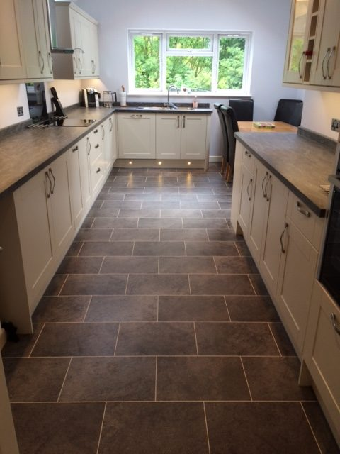 Kitchen Extension Finished With Kick Boards On 1 Carpet