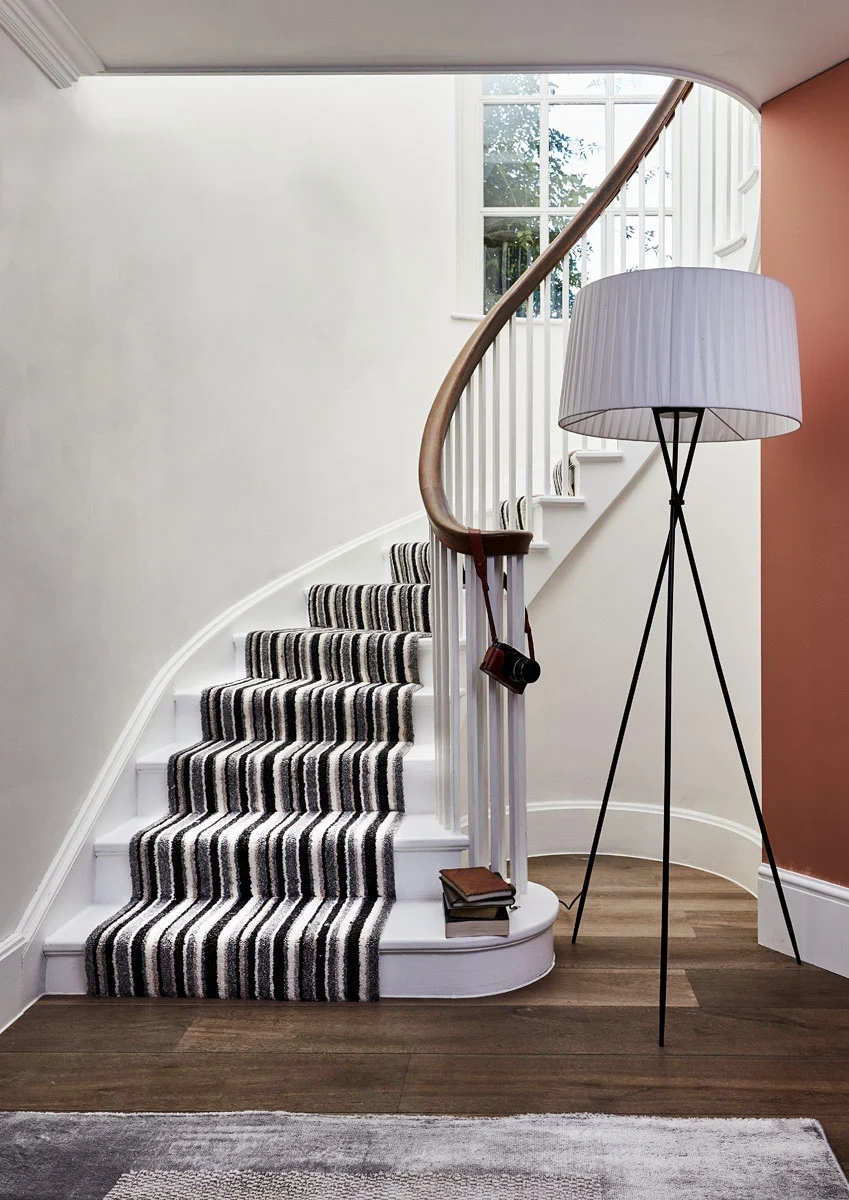 The Beauty Of Stair Runners Carpetright   Black And White Carpet Stairs   Victorian   Striped   Geometric   Low Cost Simple   Unusual