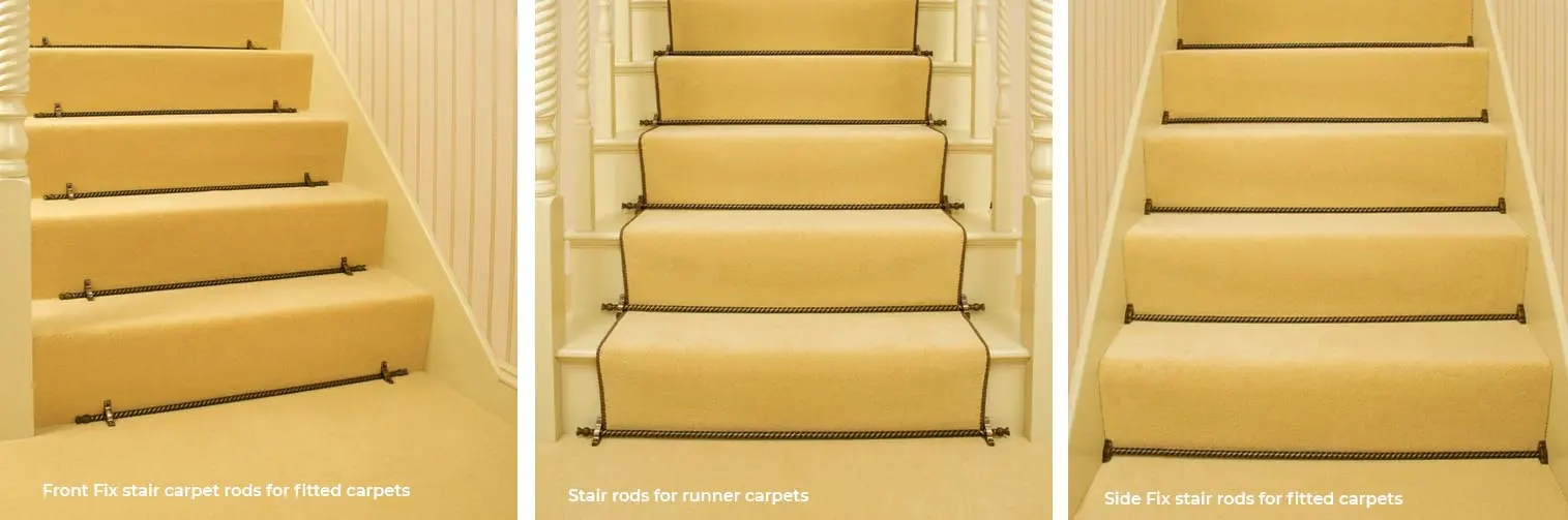 Modern Stair Carpet Rods Stair Rods Most Asked Q A And Top Tips | Fixing Carpet On Stairs | Wood | Staircase | Runner | Stair Nosing | Install
