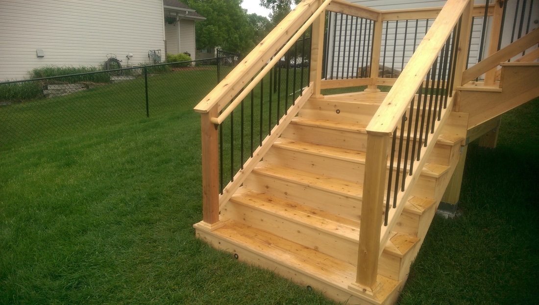 Deck Stairs Minneapolis Carter Custom Construction | Making Steps For Decking