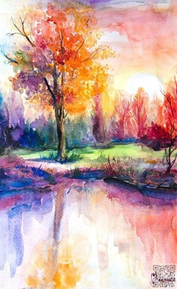 60 Easy Watercolor Painting Ideas for Beginners