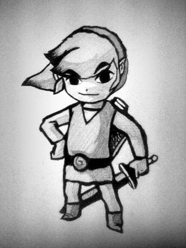 Black And White Drawings Zelda
