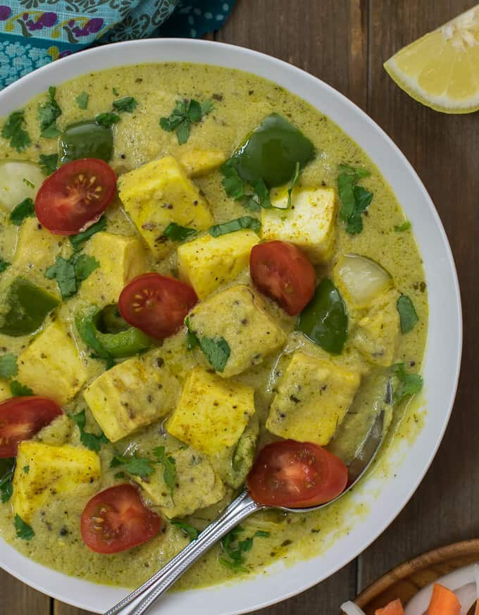 Pepper Paneer in yogurt gravy easy paneer recipe Pepper Paneer in yogurt gravy