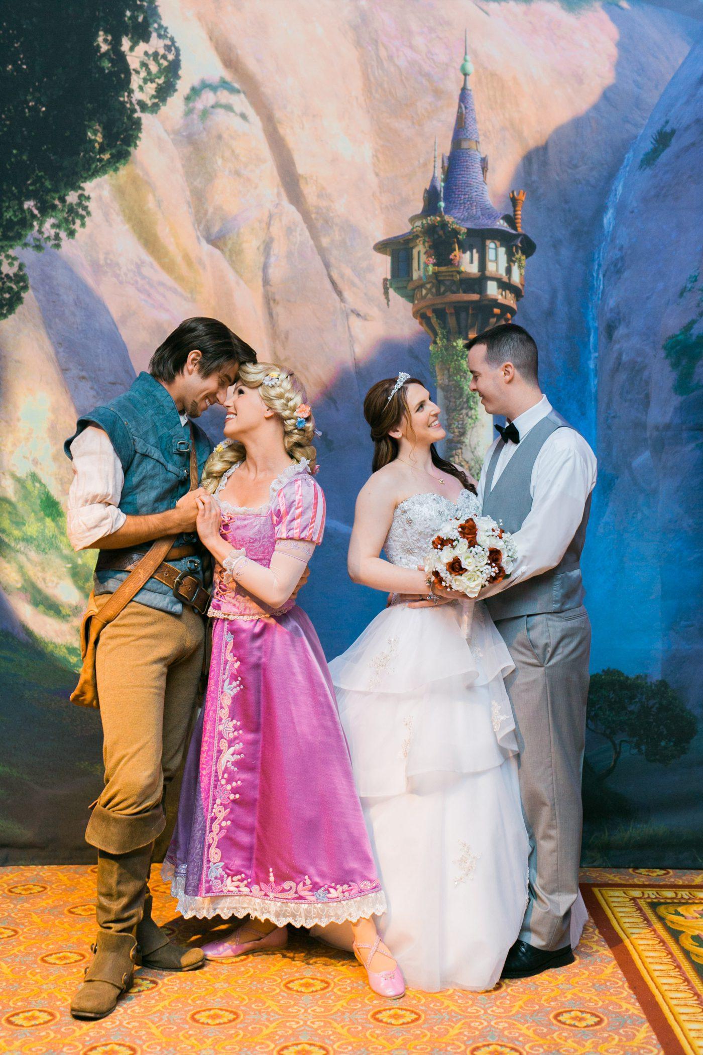 Tangled Themed Wedding At Disney World Rachel Dan Charleston Sc Wedding Photographers