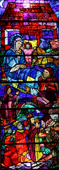 Nativity Alberti Artist Window