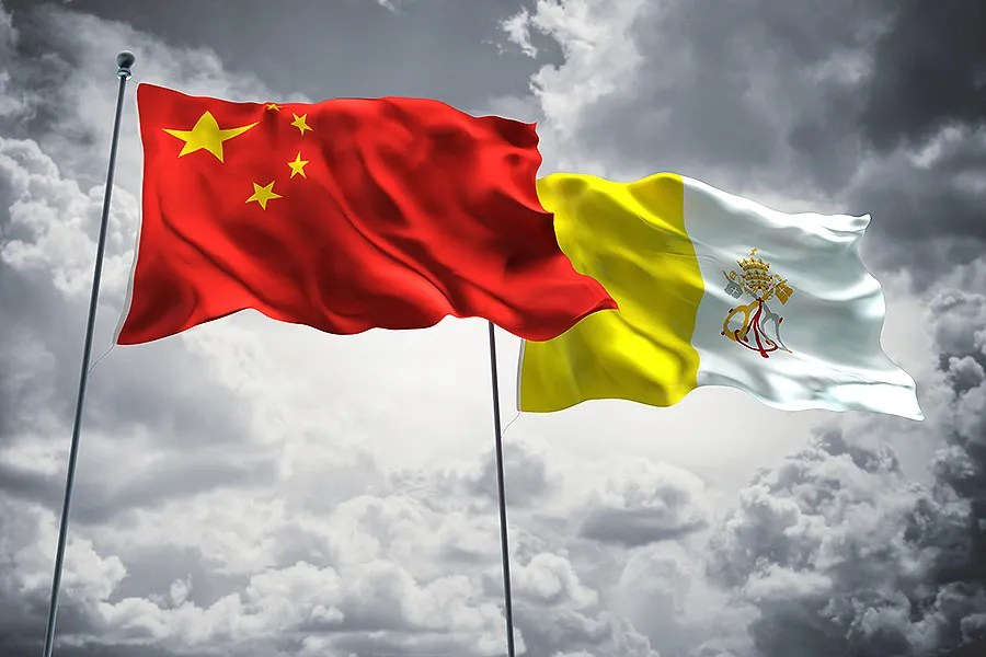 Vatican and China sign deal on Chinese Catholic bishop appointments Flags of China and Vatican City  Credit  FreshStock Shutterstock