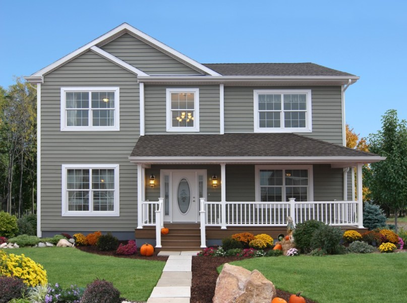Catskill Valley Homes   Excalibur NS311A 2 Story Home Exterior   Floorplan