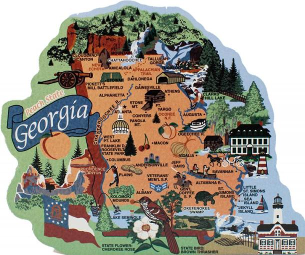 State Map  Georgia   The Cat s Meow Village Display your state pride with a state map of Georgia handcrafted in wood by  The Cat s