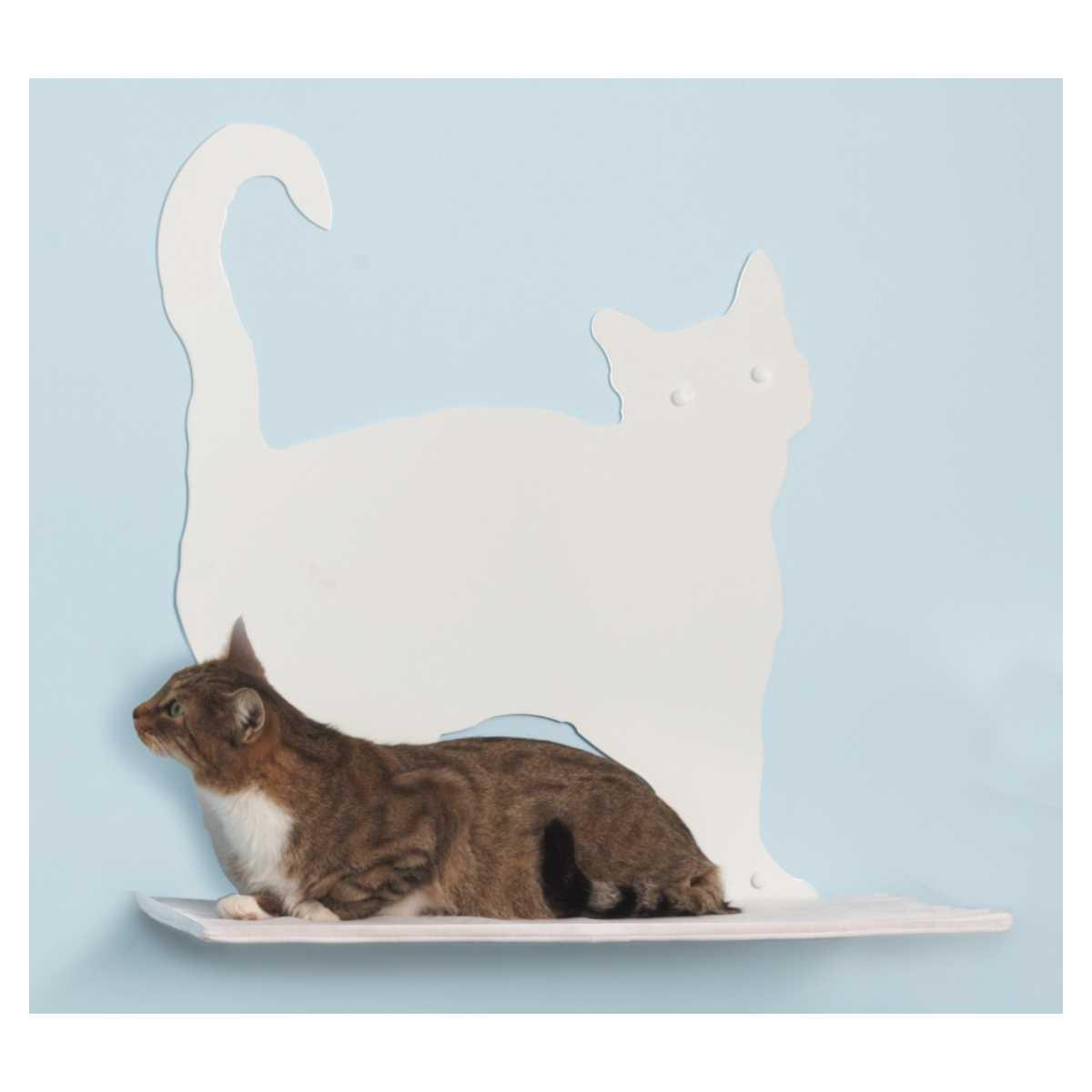 Cat Silhouette Cat Shelf Prance