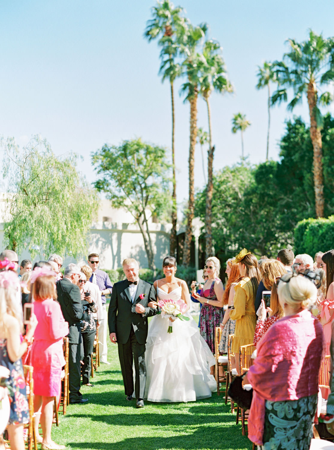Riviera Palm Springs Wedding With Tropical And Disco Vibes