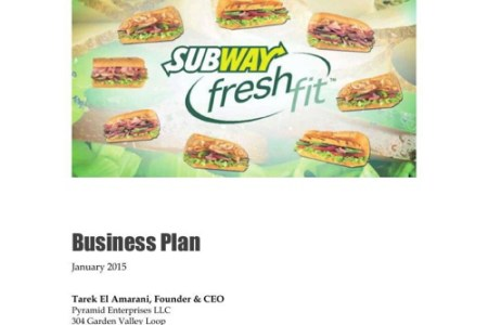 Restaurant Business Plan Samples   Cayenne Consulting Subway Franchisee Business Plan