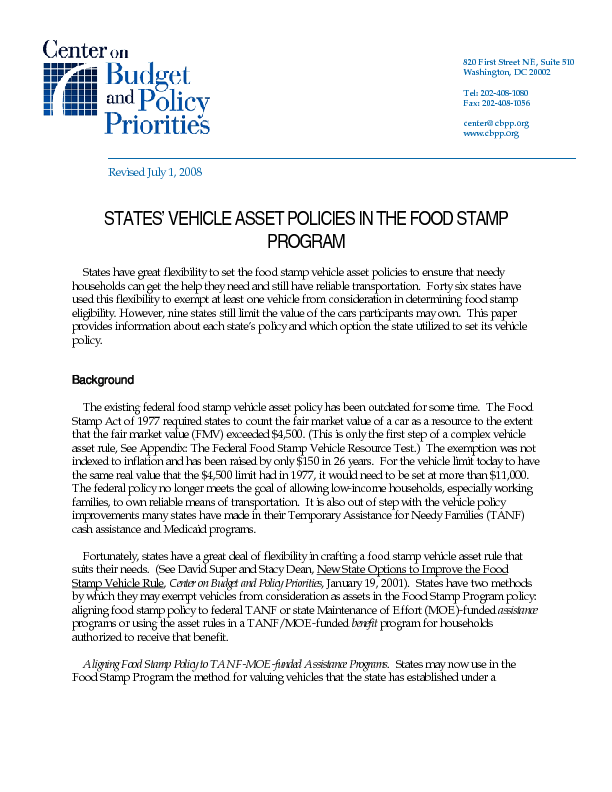 Department Social Services Food Stamp Application