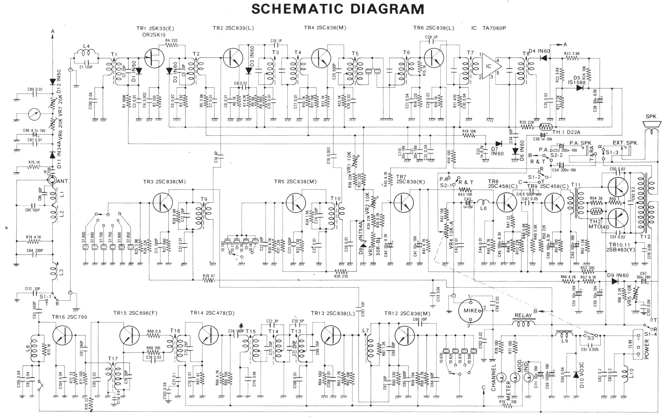 Galaxy Saturn Radio Parts Turbo Schematic