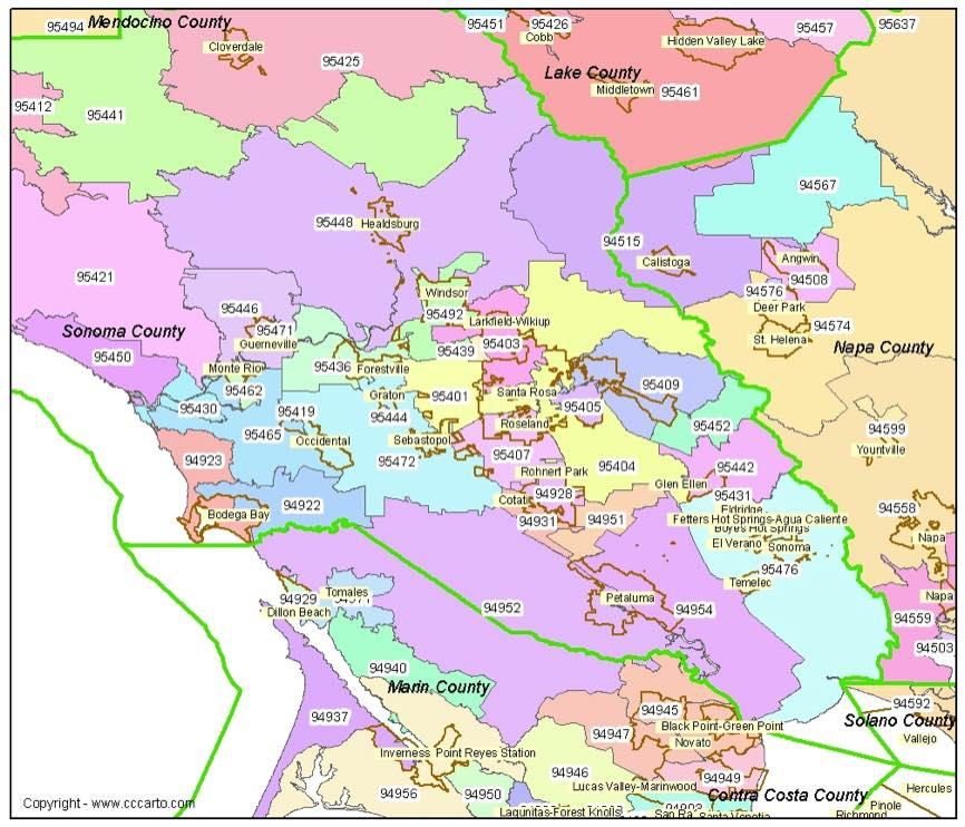 City Of Riverside California Map