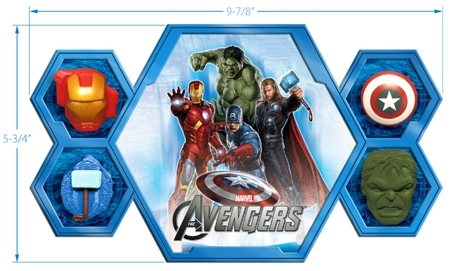 Avengers Toy Display Tray Cedric Hohnstadt Illustration
