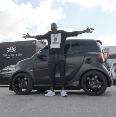 Ochocinco s Custom Smart Car is Here    Celebrity Cars Blog Chad Johnson Ochocinco Smart Car