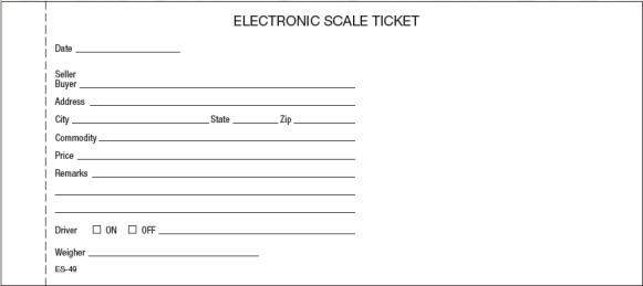 Scale Ticket Es 49 Carbon 4x9 Quot