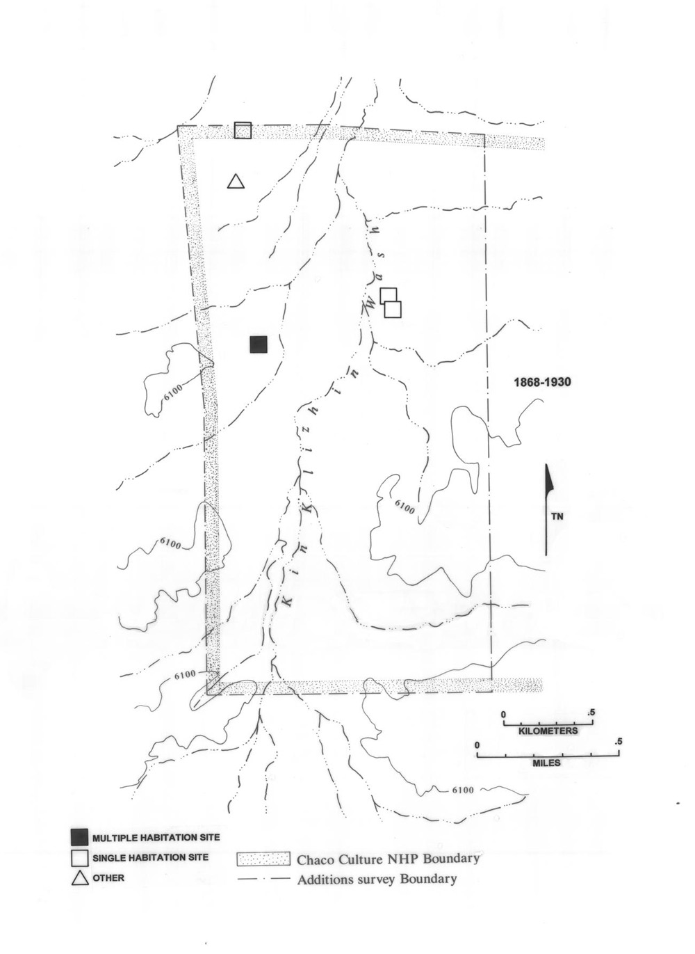 Figure 6 39 sites dating from 1930 to 1980 in the kin bineola survey area