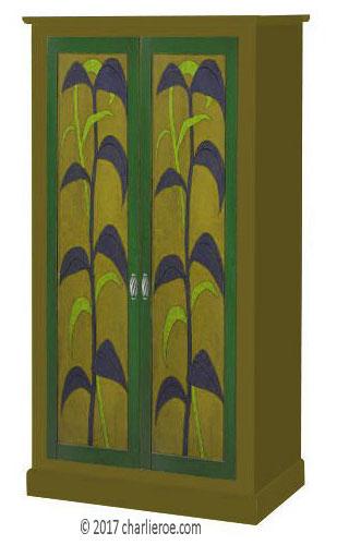 New Omega Workshops Painted Bedroom 4 Door Wardrobe