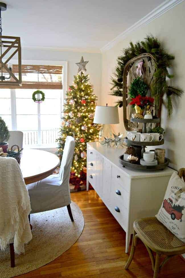 Living Room And Dining Room Decorating Ideas Christmas