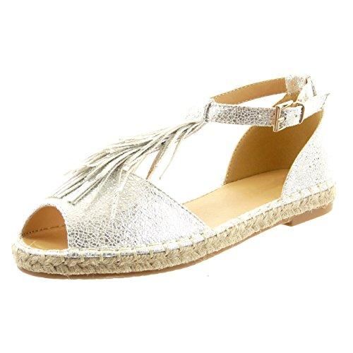 sopily chaussure mode espadrille sandale cheville femmes croco frange boucle talon bloc 1 5 cm. Black Bedroom Furniture Sets. Home Design Ideas