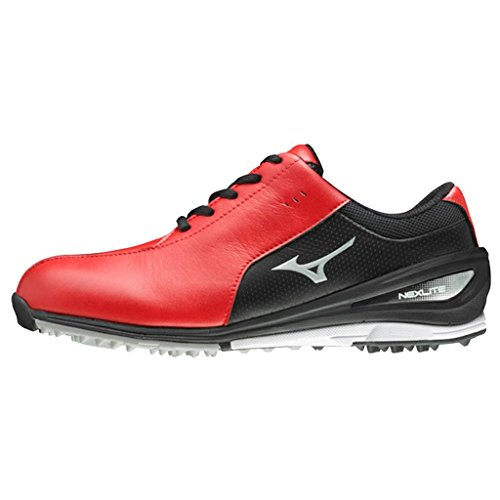 Mizuno 2017 NEXLITE SL Ultra-Light Spikeless Waterproof Mens Golf Shoes - Red/Black 10UK