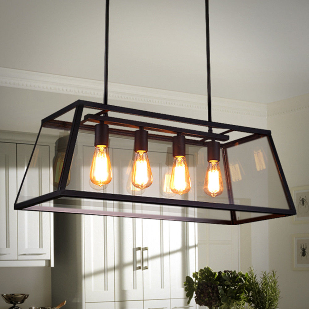 Modern Glass Shade Pendant Light Fixture Chandelier Bar