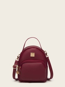 Curved Top Pocket Front Backpack