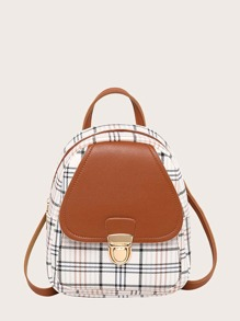 Girls Plaid Backpack
