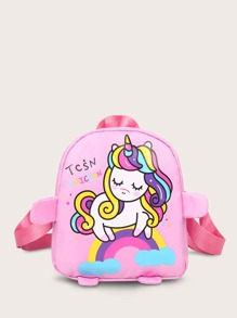 Girls Unicorn & Rainbow Graphic Backpack