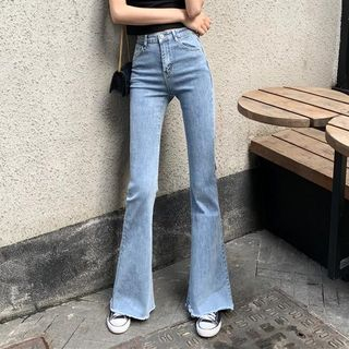 High Waist Bell-Bottom Jeans