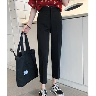 High-Waist Cropped Pants