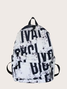 Letter Graphic Backpack