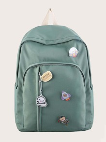 Cartoon Decor Large Capacity Backpack