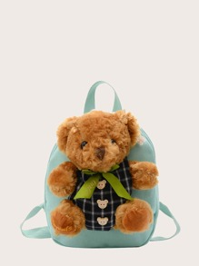 Kids Cartoon Bear Decor Backpack