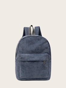 Minimalist Pocket Front Corduroy Backpack