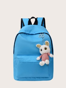 Pocket Front Backpack With Toy Charm