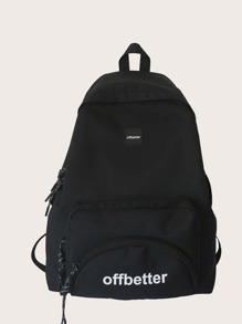 Pocket Front Letter Graphic Backpack