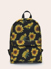 Pocket Front Sunflower Graphic Backpack