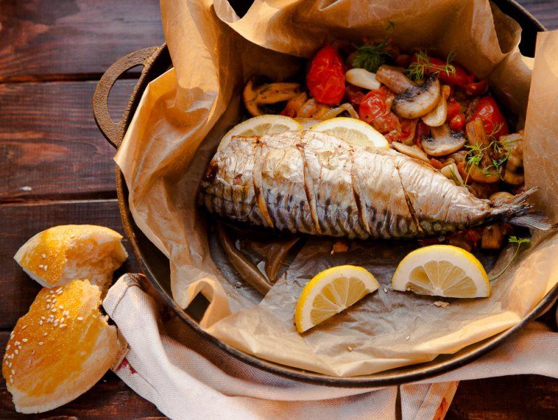ปลาแมคเคอเรลทอดในสูตรอียิปต์