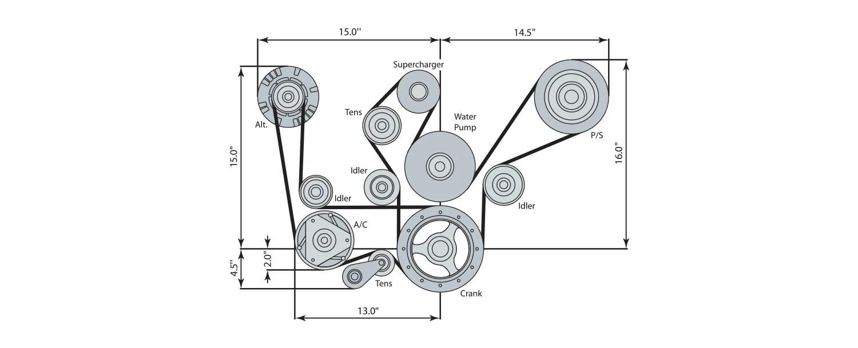 Ls lt lsx block accessory drive systems chevrolet performance rh chevrolet