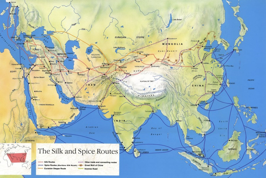 Silk Road Maps 2018   Useful map of the ancient Silk Road Routes Silk Road Map