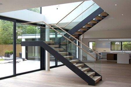 U Shaped Staircase Demax Arch | Glass Railing Designs For Stairs | Spiral Staircase | Beautiful | Contemporary | Curved | Guardrail